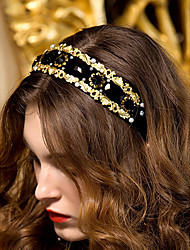 cheap -Women's Rhinestone Headpiece-Wedding / Special Occasion Headbands Black