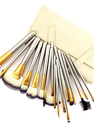 cheap -18PCS Professional Shine Luxury Gold Color Handle Persian Wool Brush Set