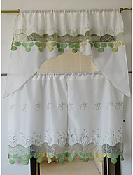 cheap -Country Fresh Style Floral Kitchen Curtain