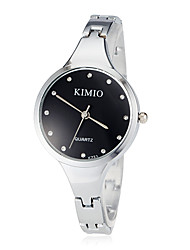 cheap -Women's Ladies Wrist Watch Quartz Stainless Steel Silver Casual Watch Analog Bangle Fashion - White Black
