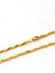 cheap -Chain Necklace Ladies Gold Plated Necklace Jewelry For Wedding Party Daily Casual Sports
