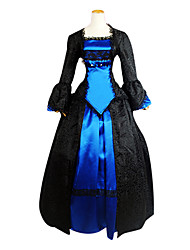 cheap -Victorian Medieval 18th Century Dress Party Costume Masquerade Women's Lace Costume Vintage Cosplay Party Prom Long Sleeve Lolita Ball Gown