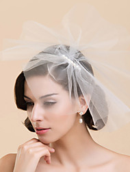 cheap -One-tier Wedding Veil Blusher Veils with Pearl Tulle A-line, Ball Gown, Princess, Sheath / Column, Trumpet / Mermaid