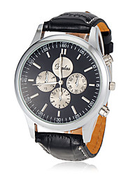 cheap -Men's Dress Watch Aviation Watch Quartz Black Analog Classic - White Black / Stainless Steel