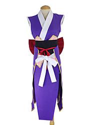 cheap -Inspired by Fairy Tail Erza Scarlet Anime Cosplay Costumes Japanese Cosplay Suits Kimono Patchwork Apron Belt Bow For Women's / Kimono Coat / Kimono Coat