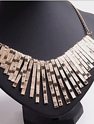 cheap -Women's  States Exaggerate Symmetric Metal Plating Geometry Square Short Necklace