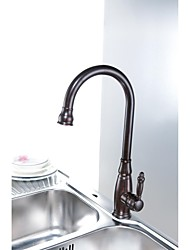 cheap -Traditional Oil-rubbed Bronze Finish One Hole Single Handle Deck Mounted Rotatable  Brass Kitchen Faucet