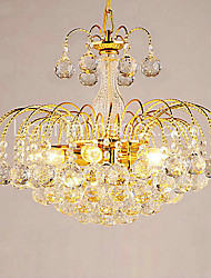 "cheap -1-Light QINGMING® 38(15"") Crystal Chandelier Glass Crystal Electroplated Modern Contemporary 110-120V / 220-240V"
