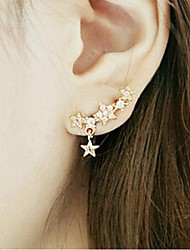cheap -Women's Stud Earrings Helix Earrings Star Rhinestone Gold Plated Earrings Jewelry Golden For Wedding Party Daily Casual