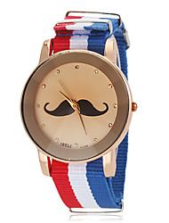 Недорогие -Мужская Pattern Усы Государственного флага Стиль Ткань браслет кварцевые наручные часы (разных цветов)