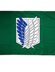 cheap -Cosplay Accessories Inspired by Attack on Titan Cosplay Anime Cosplay Accessories Flag Terylene Men's Women's New Hot Halloween Costumes