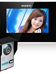 abordables -Interphone sonnette vidéo 7 pouces kit vidéo intercom 1-camera 420tvline cmos vision nocturne 1-moniteur montage mural mains-libres