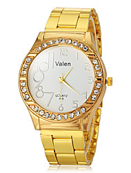 cheap -Women's Diamond Watch Quartz Gold White Black