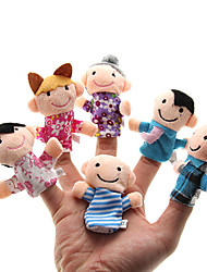 cheap -Family Finger Puppets Puppets Cute Lovely Novelty Plush Girls' Toy Gift 6 pcs / Parent-Child Interaction / Family Interaction