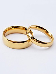 cheap -Couple Rings Classic Golden Black Titanium Steel Gold Plated Love Friendship Ladies Simple Simple Style / Women's / Band Ring