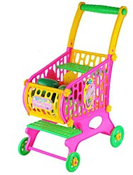 cheap -Toddler Fruits Vegetables Food Trolley Toy Supermarket Children Kid Shopping Cart Pretend Play Toy 52