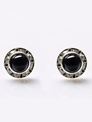 cheap -Women's Pearl Stud Earrings Ladies Luxury Pearl Crystal Imitation Pearl Earrings Jewelry White / Black For Wedding Party Daily Casual Sports / Imitation Diamond / Black Pearl / Rhinestone
