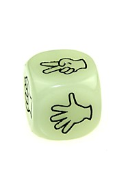cheap -Funny Humour Gambling Bar Dice Luminous Gesture Dice (2 PCS)