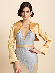 cheap -Delicate Long Sleeve Satin Special Occasion Jacket/Wedding Wrap(More Colors)