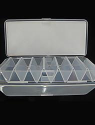 Недорогие -190 * 85 * 31MM Две стороны Белый Прозрачный Рыбалка Box снасти Box