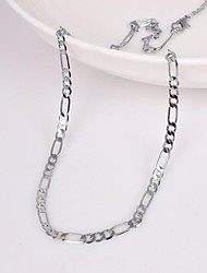 cheap -Men's Chain Necklace Unique Design Fashion Alloy Silver Necklace Jewelry For Wedding Party Gift Daily Casual Sports