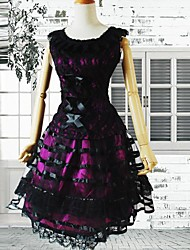cheap -Dress Gothic Lolita Dress Women's Purple Lolita Accessories Dress Cotton Halloween Costumes / Medium Length