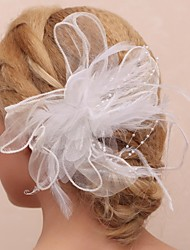 cheap -Women's Flower Girl's Feather Tulle Imitation Pearl Headpiece-Wedding Special Occasion Outdoor Flowers