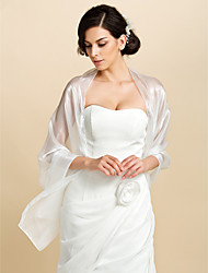 cheap -Shawls Tulle Wedding / Party Evening / Casual Wedding  Wraps / Shawls / Women's Wrap With Tiered