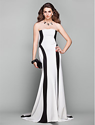 cheap -A-Line Strapless Court Train Jersey Formal Evening Dress with by TS Couture®