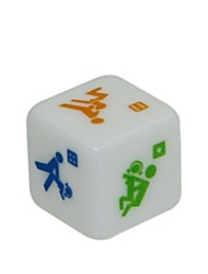 cheap -1.6cm Sexy Funny Adult Love Humour Gambling Print Dice (2 PCS)