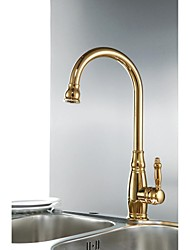 cheap -Deck Mounted Single Handle One Hole with Ti-PVD Kitchen faucet