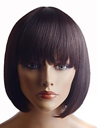 cheap -Capless Extra Short  High Quality Synthetic Natural Look Black Straight  Hair Wig