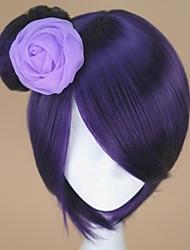cheap -Naruto Konan Cosplay Wigs Women's 12 inch Heat Resistant Fiber Purple Anime