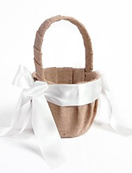 "cheap -Others Flower Basket Wood / Satin / Linen 3 1/2"" (9 cm) Acrylic / Bowknot / Bows / Ribbons"