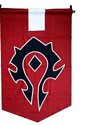 cheap -Cosplay Accessories Inspired by WOW Cosplay Anime / Video Games Cosplay Accessories Flag Terylene 855