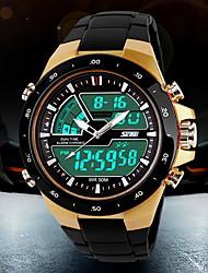 cheap -SKMEI Men's Sport Watch Wrist Watch Digital Watch Quartz Digital Japanese Quartz Fashion Water Resistant / Waterproof Analog - Digital White Black Red / Two Years / Alarm / Calendar / date / day