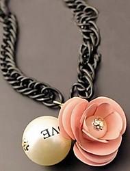 cheap -Women's  The Fairy Fan Pearl Flower Necklace