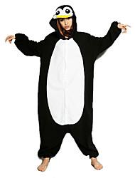 cheap -Adults' Kigurumi Pajamas Penguin Animal Onesie Pajamas Polar Fleece Black / White Cosplay For Men and Women Animal Sleepwear Cartoon Festival / Holiday Costumes / Leotard / Onesie / Leotard / Onesie