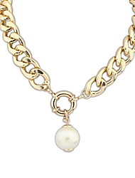 cheap -Women's Pearl Pendant Necklace Pearl Necklace Ladies Vintage European Fashion Pearl Alloy Screen Color Necklace Jewelry 1pc For Special Occasion Birthday Gift