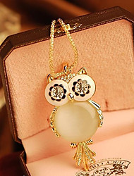 cheap -Women's Pendant Necklace Owl Snowflake Ladies Fashion Alloy Screen Color Necklace Jewelry For Special Occasion Birthday Gift