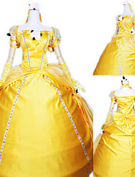 cheap -Princess Cosplay Costume Party Costume Women's Vacation Dress Halloween Carnival Festival / Holiday Polyester Women's Easy Carnival Costumes Solid Colored / Gloves / Gloves