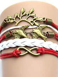 cheap -Occident Fashion   Jewelry  with Letter LOVE Anchors  Handmade Woven  PU Brecelet