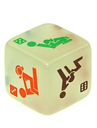 cheap -2.5cm Sexy Funny Adult Love Humour Gambling Print Dice Luminous Dice (2 PCS)