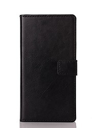 cheap -Case For Sony Xperia Z5 / Sony Xperia Z3 / Sony Xperia Z3 Compact Sony Xperia Z2 / Sony Xperia Z3 / Sony Xperia Z3 Compact Wallet / with Stand Full Body Cases Solid Colored Hard PU Leather