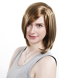 cheap -Fashionable Laconic Inclined Bang Short Straight  Synthetic Wigs For Women