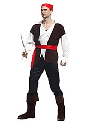 cheap -Pirate Cosplay Costume Men's Halloween Festival / Holiday Polyester Men's Carnival Costumes / Top / Hat