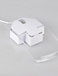 cheap -LITBest NHWR06 Wired USB Optical Office Mouse Led Light 1200 dpi 3 pcs Keys