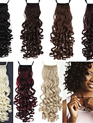 cheap -Ponytails Hair Piece Curly Classic Synthetic Hair 18 inch Medium Length Hair Extension Daily