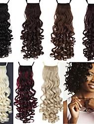 Недорогие -Конские хвостики Волосы Кудрявый Классика Искусственные волосы 18 дюймы Средние Наращивание волос Повседневные