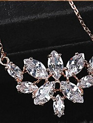 Недорогие -Белый Цирконий Сплав Розовое золото Ожерелье Бижутерия Назначение Повседневные